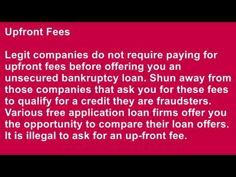 How to Find Legit Companies That Can Offer Unsecured Loans after Bankruptcy