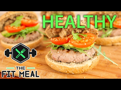 Healthy Minced Steak Burgers (High Protein)
