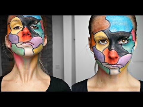 Halloween Makeup: Colorful Gameplate Face