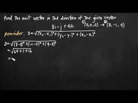 Unit vector in the direction of the given vector (KristaKingMath)