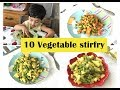 10 Vegetable Stirfry ( for 2+ toddlers & kids ) - Simple veg recipes for Indian toddlers & kids
