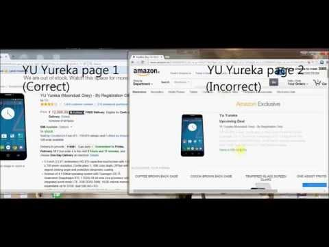 How to get Yu yureka from amazon.in