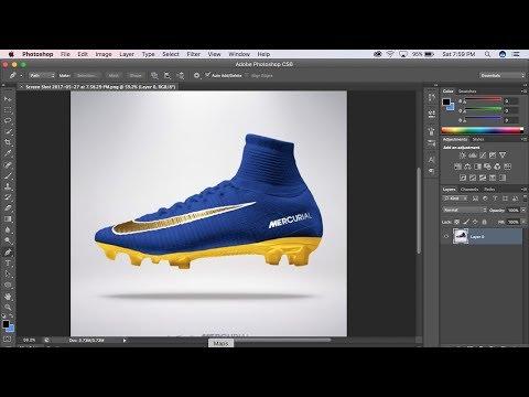 How To Make Custom Soccer Football Cleats on Photoshop