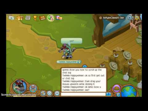 Animal Jam-How To Scroll Up The Chat Log