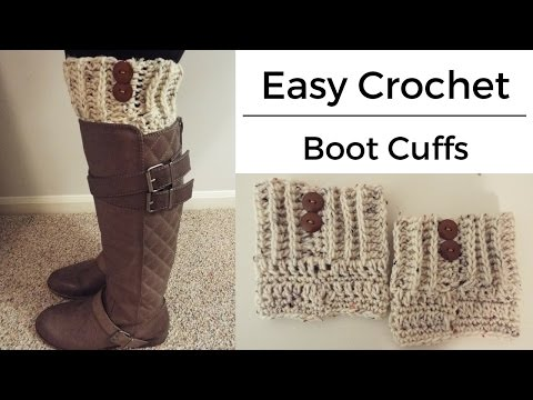 How To | Easy Crochet Boot Cuffs
