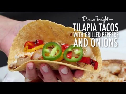 How to Make Sautéed Tilapia Tacos with Grilled Peppers and Onion | Dinner Tonight | MyRecipes