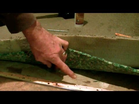 How to do a carpet transition to tile on a concrete floor