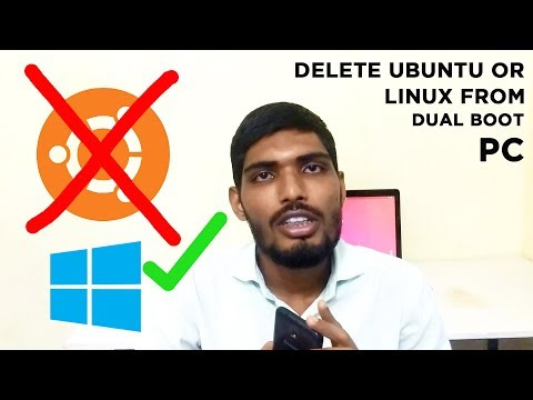 How to delete Ubuntu from Dual boot in windows 10