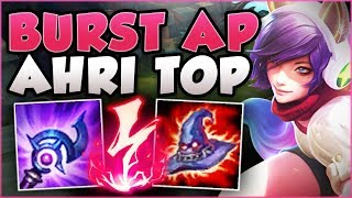 WTF! ONE BURST AP AHRI COMBO DID HOW MUCH DAMAGE?? AHRI SEASON 8 TOP GAMEPLAY! - League of Legends