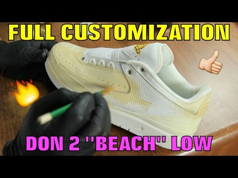LOW AIR JORDAN 2 FULL CUSTOMIZATION!!