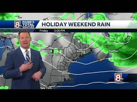Rain will impact your holiday weekend plans