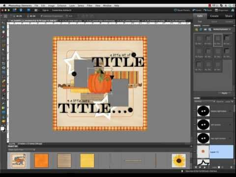 Digital Scrapbook Tutorial - How to use a Template in PSE