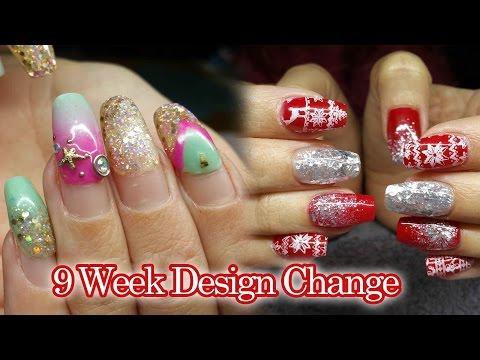 9 WEEK INFILL | Acrylic Nails | Christmas party Nails | #NOTPOLISH
