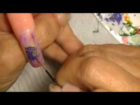 Jesus nail art for Ms. Brenda Hughes.