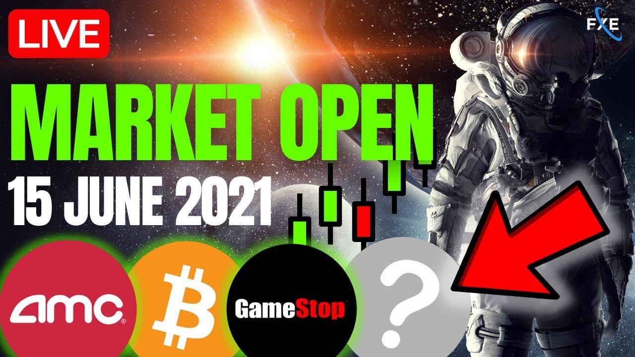 🔴LIVE -Stock Market Open Tuesday, Bitcoin Mooning? AMC, GME, Nasdaq, SP500, Bitcoin