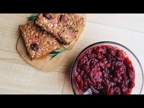 Black Pepper Tempeh + Savory Cranberry Sauce  • VEGAN THANKSGIVING Recipe