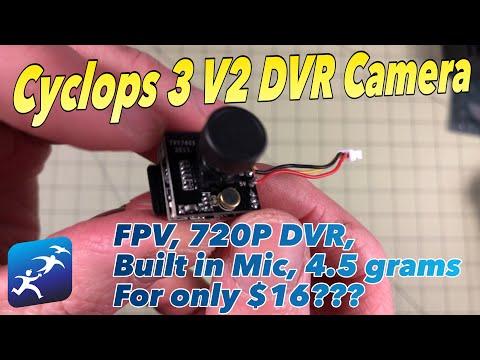 "Turbowing Cyclops 3 DVR Camera Review. FPV DVR for $16? It's ""almost"" a Runcam Split Mini"