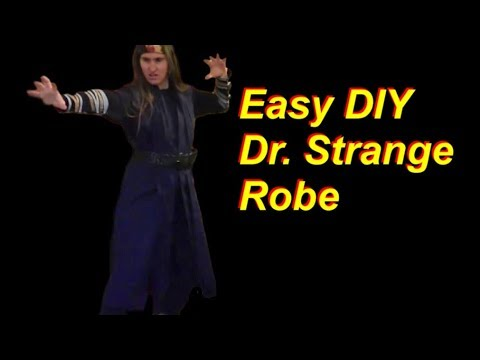 Easy DIY Dr.  Strange Cosplay Robe