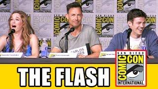THE FLASH Season 3 Comic Con Panel (Bagian 1) - Grant Gustin, Candice Patton, Keiynan Lonsdale