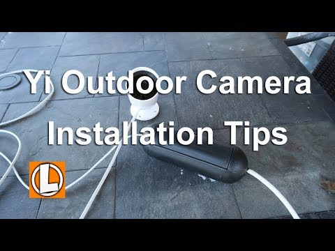 Yi Outdoor Security Camera Installation Tips | Extending The Power Cable