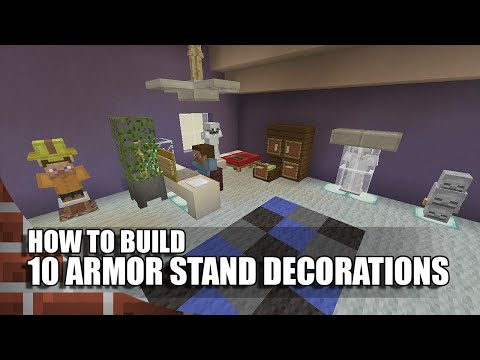 10 Armor Stand Builds/Decorations In Minecraft!
