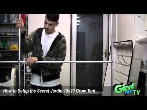 How to setup a Secret Jardin 10x20 grow tent
