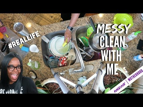 Cleaning Motivation 2018 | CLEAN WITH ME | Real life mess!