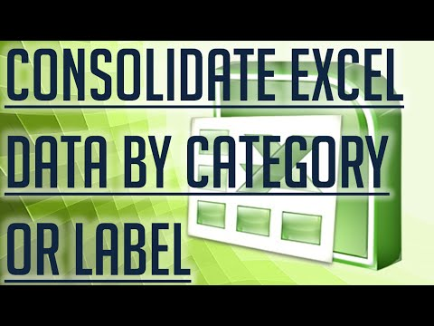 [Free Excel Tutorial] CONSOLIDATE EXCEL DATA BY CATEGORY OR LABEL - Full HD