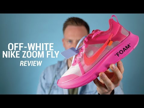 f449703bf OFF WHITE Nike Zoom Fly Tulip Pink Review   On Feet - Vidly.xyz