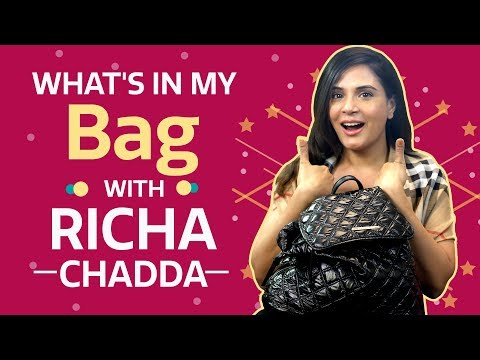 What's in my bag with Richa Chadha   S03E01   Fashion   Pinkvilla   Bollywood