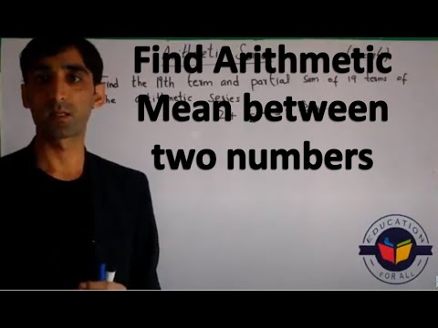 Find Arithmetic mean between two numbers