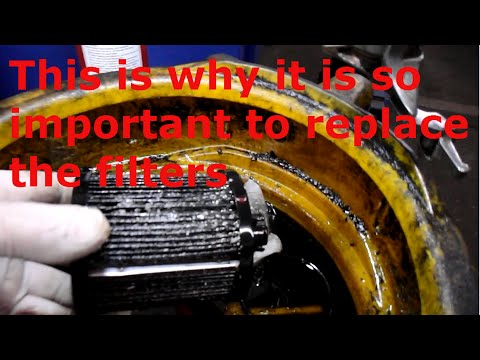How to replace the Diesel fuel filters on a 2006 Ford F350