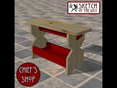 Chief's Shop Sketch of the Day: Country Stool