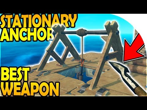 METAL SPEAR (BEST WEAPON!) + STATIONARY ANCHOR UPGRADE! ( Raft Survival Gameplay Part 8 )