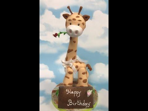 How to make a fondant giraffe