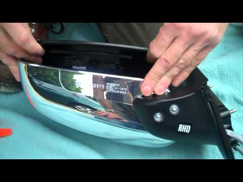 How to change mirror glass in Nissan Navara D40 Wing Mirror