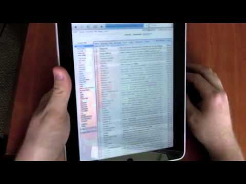Mobile Safari on the iPad