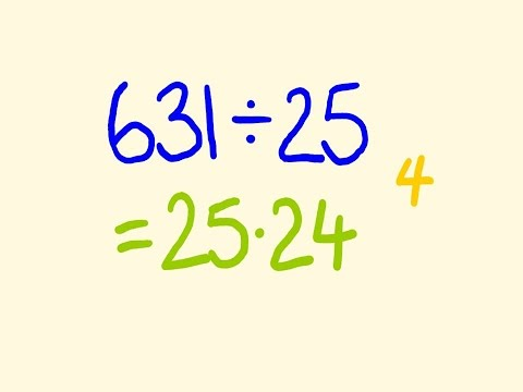 Math trick for fast division
