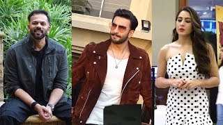 Ranveer Singh Rohit Shetty And Sara Ali Khan At The Promotion Of Simmba At JW Marriot Mumbai