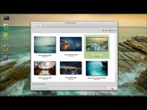 Linux Mint 15: How to change your desktop background