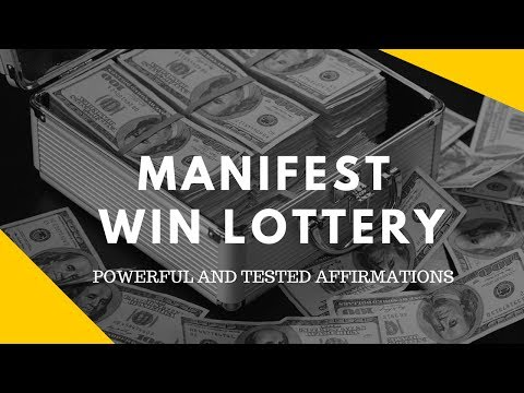 MOST POWERFUL AFFIRMATION:  THAT WIN YOU THE JACKPOT LOTTERY (100% TESTED)