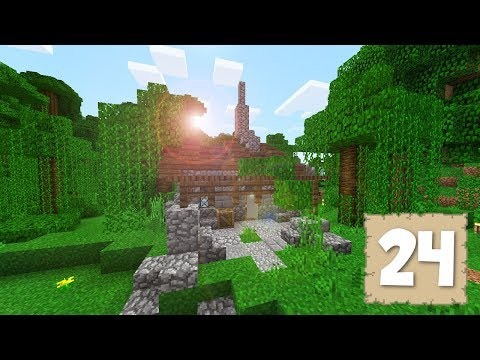 THE STONEY CABIN!! - Survival Let's Play Ep. 24 - Minecraft 1.2.3