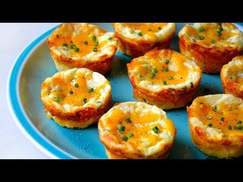 Cheesy Leftover Mashed Potato Muffins