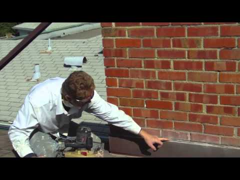 Counter flashing chimney flashings, inserting in the grout is the key