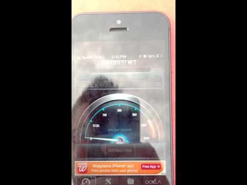 Apple iPhone 5 4G LTE Speed Test