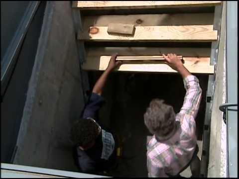 Installing Steel Stair Stringers for the Bulkhead