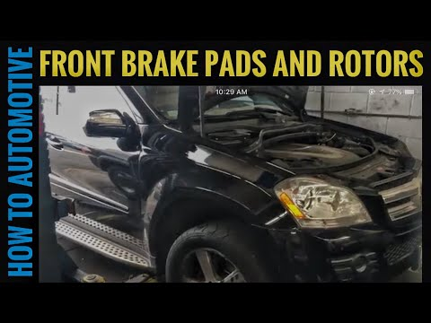 How to Replace Front Brake Pads Rotors and Sensors on a 2008 Mercedes GL450