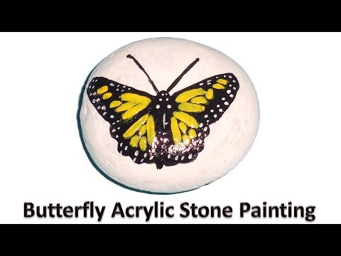 Butterfly Acrylic Stone Painting