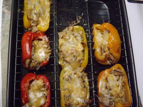 Shredded Chicken Stuffed Peppers