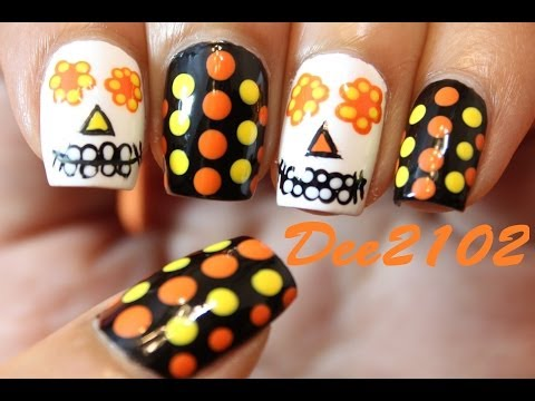 Sugar Skull Day of the Dead Nails | Dee2102